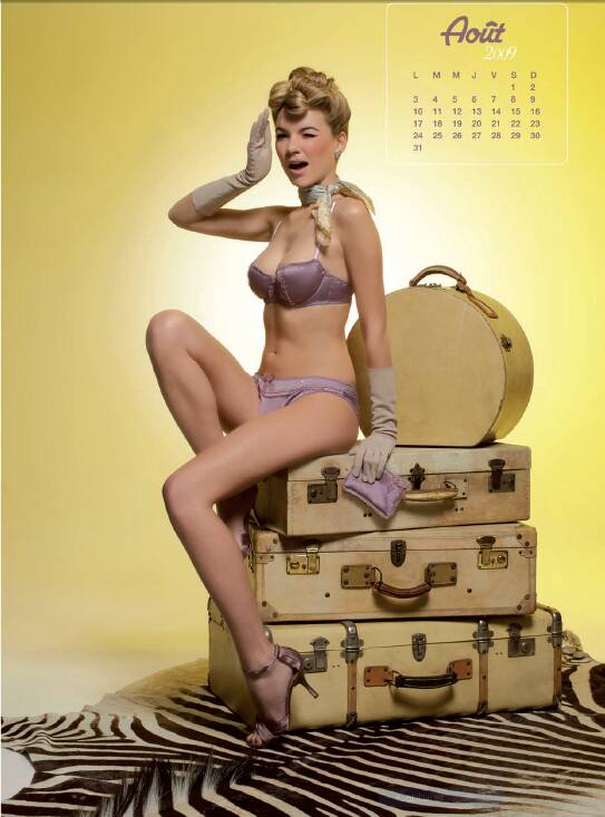Calendrier Pin Up année 50